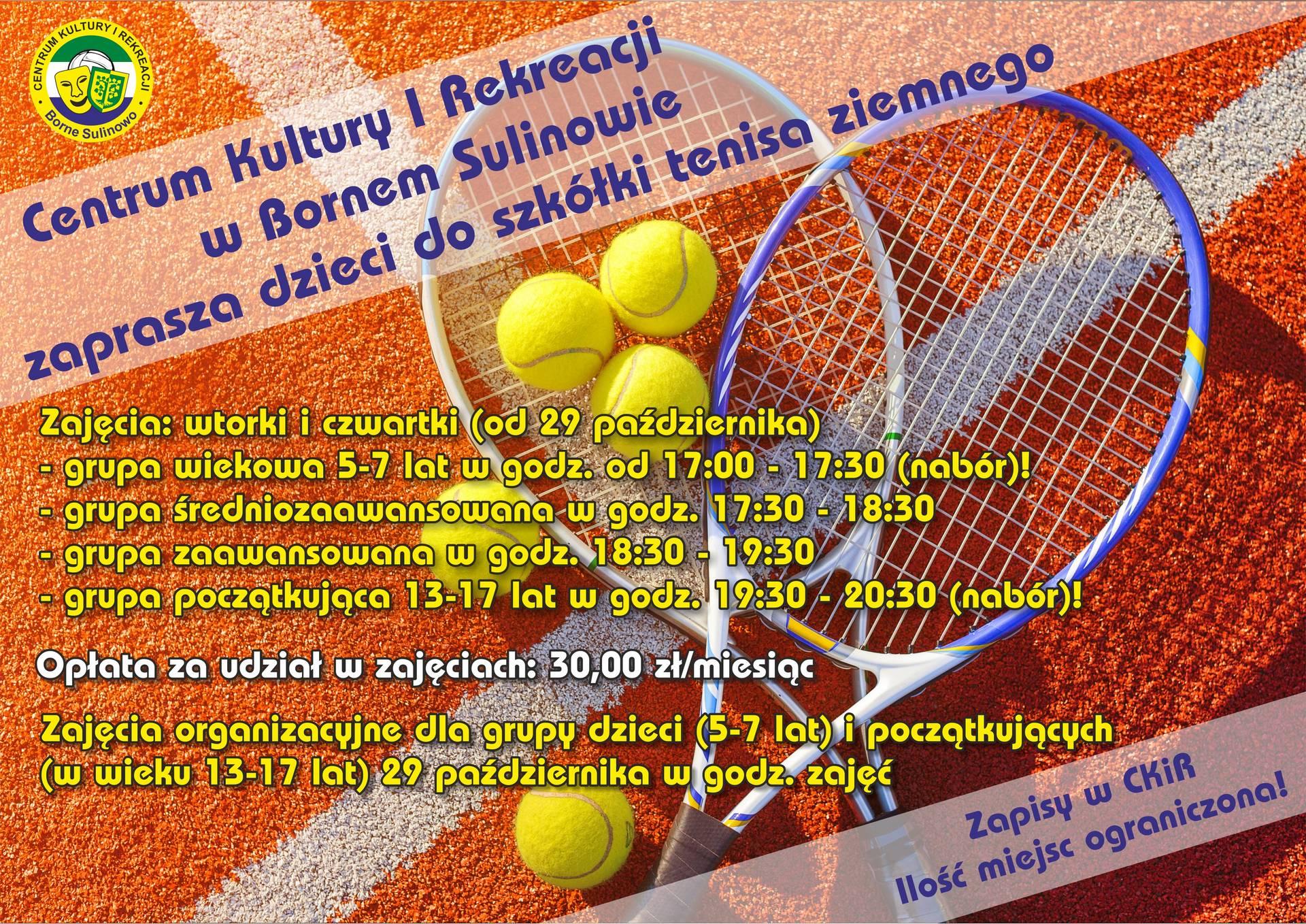 Zapraszamy dzieci do szkółki tenisa ziemnego