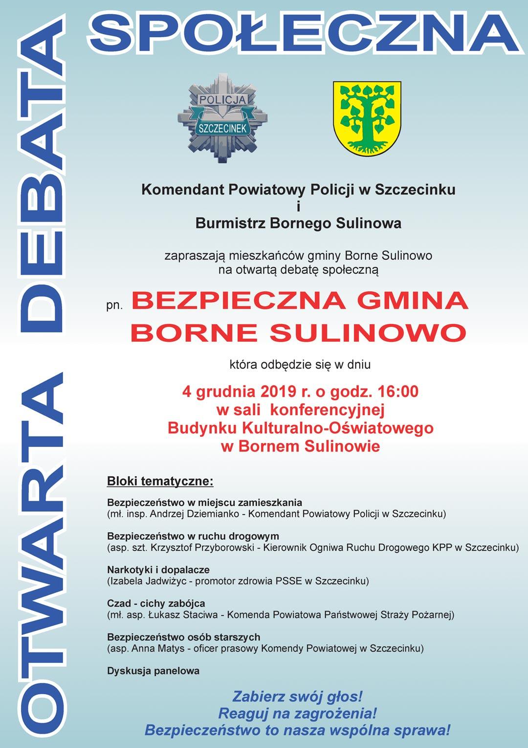 "Debata ""Bezpieczna gmina Borne Sulinowo"""