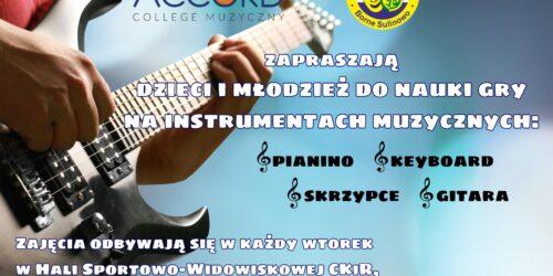 Nauka gry na instrumentach muzycznych